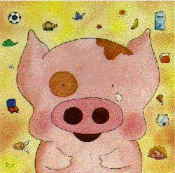 MCDULL, Hong Kong's chronically depressed, animated piglet