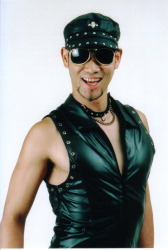 Razor Ramon, shock comedian/pro wrestler from Japan